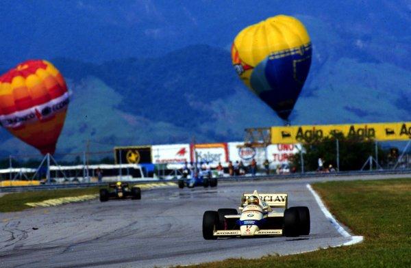 1985 Brazilian Grand Prix.Jacarepagua, Rio de Janeiro, Brazil.5-7 April 1985.Gerhard Berger (Arrows A8 BMW).World Copyright - LAT Photographic