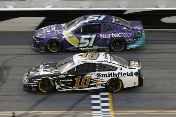 #10: Aric Almirola, Stewart-Haas Racing, Ford Mustang Smithfield #51: Cody Ware, Petty Ware Racing, Chevrolet Camaro