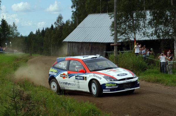 2002 World Rally Championship.Neste Rally Finland, Jyvaskyla Finland, August 8-11th.Colin McRae on stage 5.Photo: Ralph Hardwick/LAT