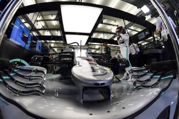 Lewis Hamilton, Mercedes AMG F1 getting into his car