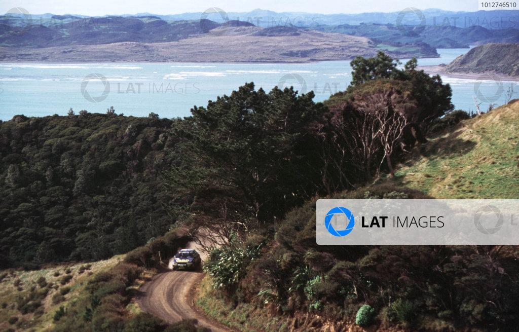 1995 World Rally Championship.Rally New ZealandColin McRae/Derek Ringer (Subaru Impreza 555), 1st position.World - LAT Photographic