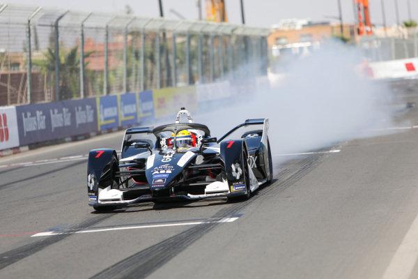 Sergio Sette Camara (BRA), Rookie Test Driver for GEOX Dragon, Penske EV-4, does a burn out