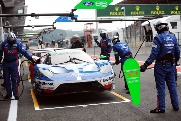 2017 FIA World Endurance Championship. Spa-Francorchamps, Belgium, 4th-6th May 2017. #66 Ford Chip Ganassi Racing Ford GT: Olivier Pla, Stefan M?cke, Billy Johnson World Copyright: JEP/LAT Images