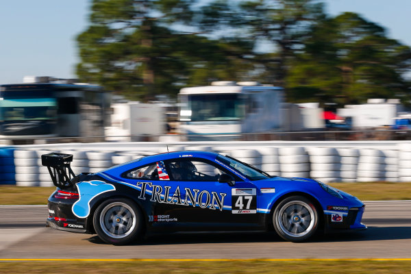 2017 Porsche GT3 Cup USA Sebring International Raceway, Sebring, FL USA Wednesday 15 March 2017 47, Andrew Longe, GT3P, USA, 2017 Porsche 991 World Copyright: Jake Galstad/LAT Images ref: Digital Image lat-galstad-SIR-0317-14882