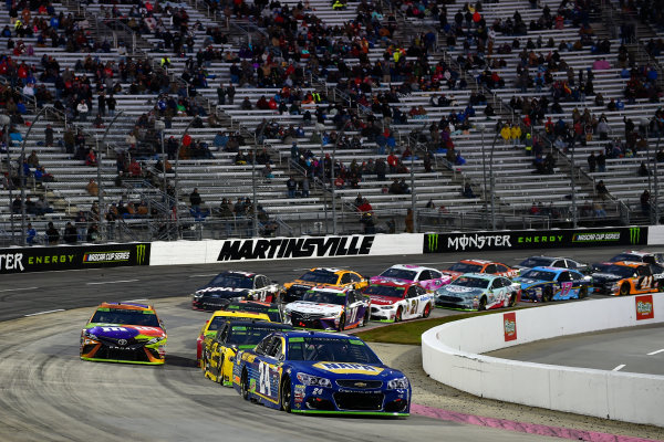 Monster Energy NASCAR Cup Series First Data 500 Martinsville Speedway, Martinsville VA USA Sunday 29 October 2017 Chase Elliott, Hendrick Motorsports, NAPA Chevrolet SS, Kyle Busch, Joe Gibbs Racing, M&M's Halloween Toyota Camry World Copyright: Scott R LePage LAT Images ref: Digital Image lepage-171029-mart-8518