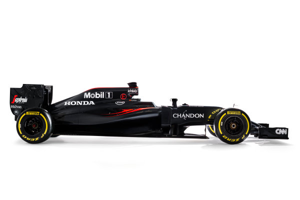 McLaren Honda MP4-31 Reveal. Woking, UK. Friday 19 February 2016. The McLaren Honda MP4-31. Photo: McLaren (Copyright Free FOR EDITORIAL USE ONLY) ref: Digital Image _X0W8682