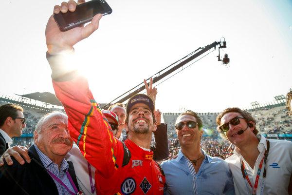The Race. Lucas Di Grassi (BRA), ABT Audi Sport FE01. Mexico City e-Prix, Mexico, Central America. Saturday 12 March 2016 Photo: Adam Warner /LAT/FE. ref: Digital Image _L5R0001
