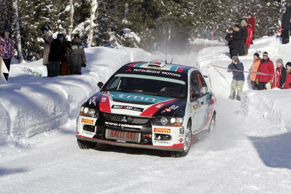 Round 02Rally Norway 12-15 February 2009Armindo Araujo, Mitsubishi PWRC, ActionWorldwide Copyright: McKlein/LAT