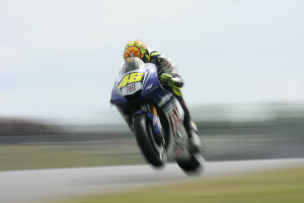 Donington Park, England. 20th June 2008.MotoGP Free PracticeValentino Rossi Fiat Yamaha Team.World Copyright: Martin Heath/ LAT Photographicref: Digital Image
