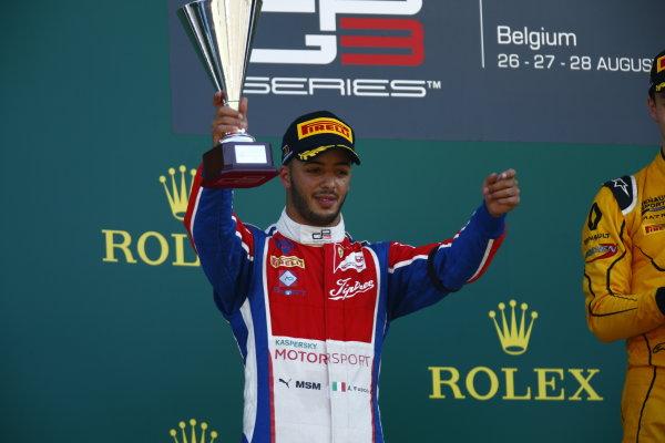 2016 GP3 Series Round 6.  Spa-Francorchamps, Spa, Belgium. Sunday 28 August 2016.Antonio Fuoco (ITA, Trident)  Photo: Zak Mauger/GP3 Series Media Service. ref: Digital Image _L0U1768