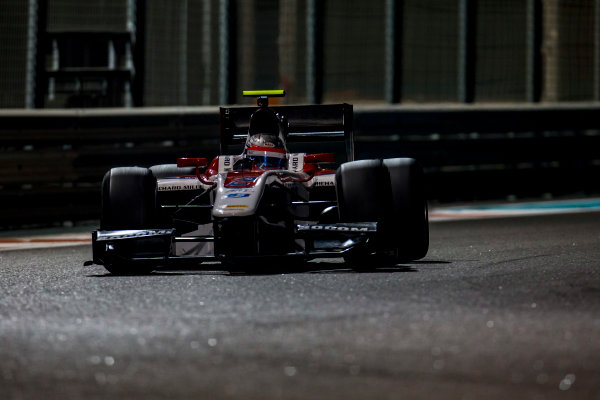 2016 GP2 Series Test 3 Yas Marina Circuit, Abu Dhabi, United Arab Emirates. Friday 2 December 2016. Alexander Albon (THA, ART Grand Prix)  Photo: Zak Mauger/GP2 Series Media Service. ref: Digital Image _L0U4852