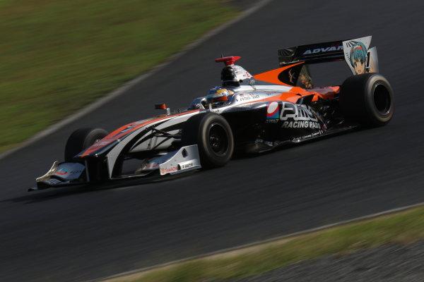 2016 Japanese Super Formula. Okayama, Japan.  Sunday 11 September 2016. Rd 5. Race2 3rd position Hiroaki Ishiura ( #1 P.MU/CERUMO · INGING SF14 ) action World Copyright: Yasushi Ishihara/LAT Photographic Ref : 2016SF_Rd5_R2_013