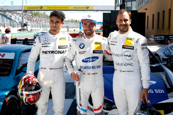 Top3 after qualifying: Pole position for Philipp Eng, BMW Team RBM, second place Pascal Wehrlein, Mercedes-AMG Team HWA, third place Gary Paffett Mercedes-AMG Team HWA.