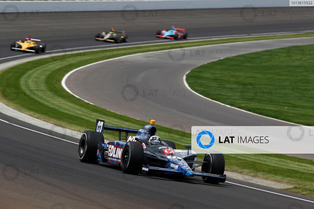 29 May, 2011, Indianapolis, Indiana, USATomas Scheckter leads Bertrand Baguette, Tony Kanaan and John Andretti.© 2011 Phillip AbbottLAT Photo USA