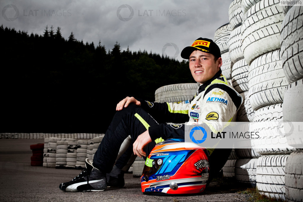 Round 7. Spa-Francorchamps, Spa Belgium. 28th August 2011. Sunday Race. Richie Stanaway, (NZL, Lotus ART), winner of race 14 at round 7 in Spa. Portrait. Photo: Alastair Staley/GP3 Media Service.  ref: Digital Image DG5D1647