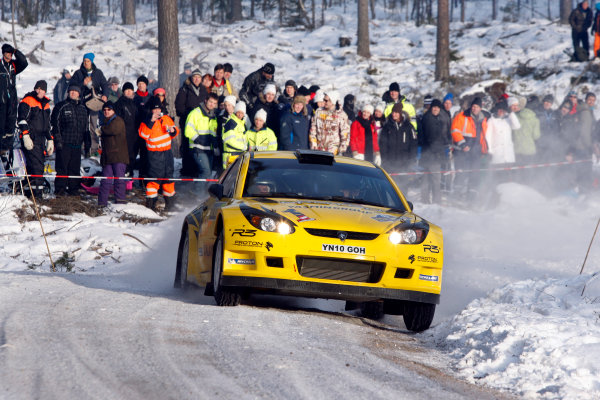 Round 02 - Rally Sweden 09-12 February 2012. Alister McRae, Proton S2000, Action.  Worldwide Copyright: McKlein/LAT