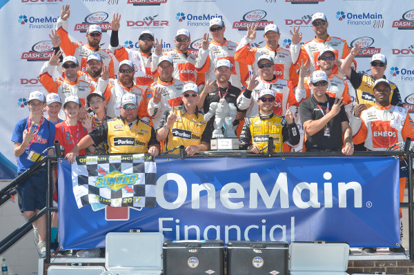 NASCAR XFINITY Series One Main Financial 200 Dover International Speedway, Dover, DE USA Saturday 3 June 2017 Kyle Larson, ParkerStore Chevrolet Camaro, celebrates in Victory Lane. World Copyright: John K Harrelson LAT Images ref: Digital Image 17DOV1jh_05193
