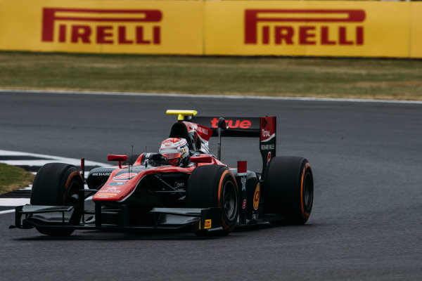 2017 FIA Formula 2 Round 6. Silverstone, Northamptonshire, UK. Sunday 16 July 2017. Alexander Albon (THA, ART Grand Prix).  Photo: Malcolm Griffiths/FIA Formula 2. ref: Digital Image MALC7640