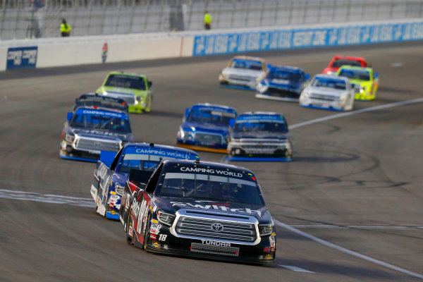 NASCAR Camping World Truck Series Las Vegas 350 Las Vegas Motor Speedway, Las Vegas, NV USA Saturday 30 September 2017 Noah Gragson, Switch Toyota Tundra and Christopher Bell, DC Solar Toyota Tundra World Copyright: Russell LaBounty LAT Images