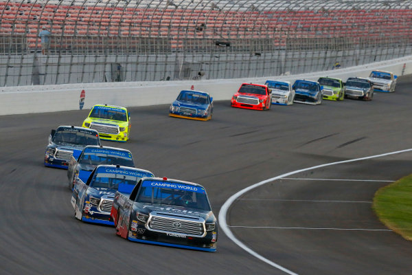 NASCAR Camping World Truck Series Las Vegas 350 Las Vegas Motor Speedway, Las Vegas, NV USA Saturday 30 September 2017 Ben Rhodes, Safelite Auto Glass Toyota Tundra and Christopher Bell, DC Solar Toyota Tundra World Copyright: Russell LaBounty LAT Images