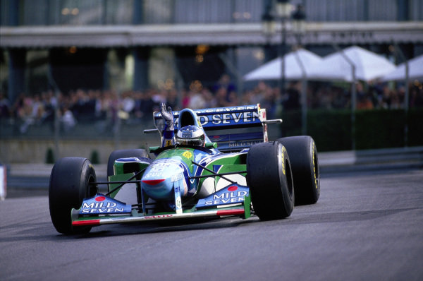 Michael Schumacher, Benetton B194 Ford, waves to the crowd.