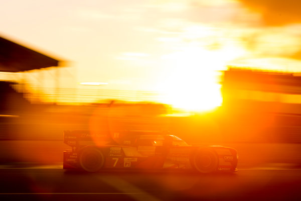 2016 Le Mans 24 Hours. Circuit de la Sarthe, Le Mans, France. Saturday 18 June 2016. Audi Sport Team Joest / Audi R18 - Marcel Fassler (CHE), Andre Lotterer (DEU), Benoit Treluyer (FRA).  World Copyright: Zak Mauger/LAT Photographic ref: Digital Image _79P7678