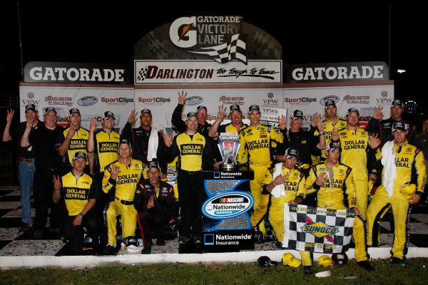 11 May, 2012, Darlington, South Carolina USAJoey Logano and team in victory lane(c)2012, Lesley Ann MillerLAT Photo USA
