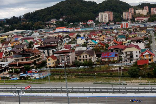 Sochi Autodrom, Sochi, Russia. Friday 09 October 2015. Felipe Nasr, Sauber C34 Ferrari. World Copyright: Alastair Staley/LAT Photographic. ref: Digital Image _79P9239