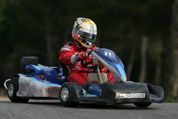 2005 GP2 Karting Challenge13th June 2005Ernesto Viso (YV, BCN Competicion). Action. Circuit Paul Ricard, FranceWorld Copyright: GP2 SeriesDigital Image Only