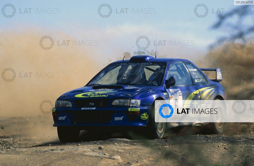 1999 World Rally Championship.Argentine Rally, Argentina. 23-26 May 1999.Juha Kankkunen/Juha Repo (Subaru Impreza WRC), 1st position.World Copyright: LAT PhotographicRef: 35mm transparency 99RALLY18