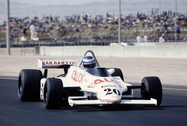 1981 Caesars Palace Grand Prix.Las Vegas, Nevada, USA.15-17 October 1981.Keke Rosberg (Fittipaldi F8C Ford) 10th position.Ref-81 LV 33.World Copyright - LAT Photographic