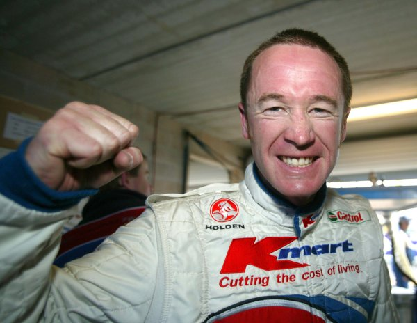 2003 Australian V8 SupercarsBathurst 1000kms, Bathurst, Australia. 12th October 2003.Holden V8 Supercar driver Greg Murphy after taking pole. Murphy dominated the weekend breaking the lap record in qualifying and the ShootoutWorld Copyright: Mark Horsburgh/ LAT Photographic
