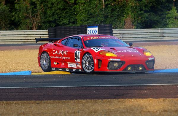 2003 Le mans 24 HoursLe Mans, France. 11th June 2003The Ferrari Gt of Kelleners/Lazzaro/Borcheller, spins.World Copyright: Geoff Bloxham/LAT Photographicref: Digital Image Only