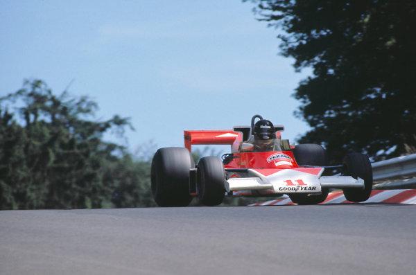 1976 German Grand Prix.Nurburgring, Germany. 1 August 1976.James Hunt (McLaren M23-Ford), 1st position.World Copyright: LAT Photographicref: 35mm Transparency Image