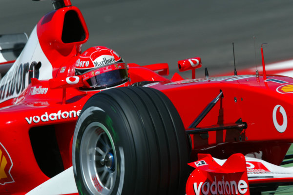 2003 Austrian Grand Prix, Friday Qualifying,A1 Ring, Austria.16th May 2003Michael Schumacher, Ferrari F2003 GA, action.World Copyright LAT Photographic.Digital Image Only.