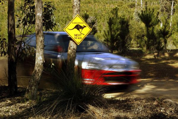2003 FIA World Rally Champs. Round Ten Telstra Rally Australia 4th-7th September 2003.Armin Schwarz, Hyundai, Action. World Copyright: McKlein/LAT
