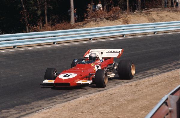 1971 United States Grand Prix.  Watkins Glen, New York, USA. 1st - 3rd October 1971. Mario Andretti (Ferrari 312B2), DNS, raced at Trenton International Speedway instead for USAC, portrait. Ref: 71USA60. World Copyright: LAT Photographic
