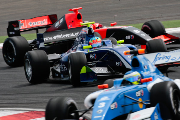 MOSCOW (RUS) JUL 13-15 2012 - Fourth round of the World series by Renault 2012 at the Moscow Raceway. Will Stevens #2 Carlin. Action. © 2012 Diederik van der Laan / Dutch Photo Agency / LAT Photographic