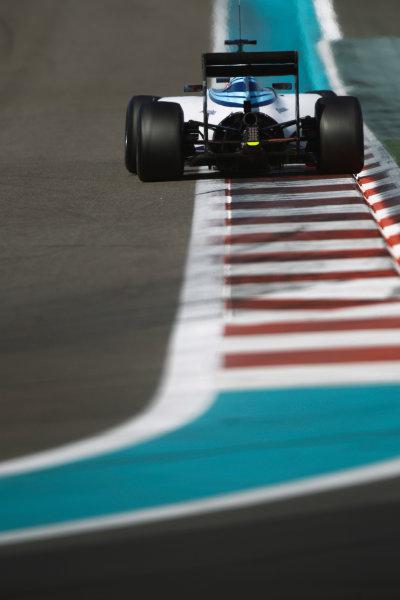 Yas Marina Circuit, Abu Dhabi, United Arab Emirates. Wednesday 26 November 2014. Felipe Nasr, Williams FW36 Mercedes.  World Copyright: Sam Bloxham/LAT Photographic. ref: Digital Image _G7C9692