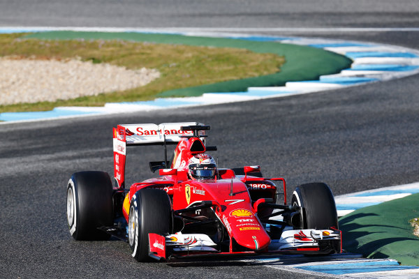 2015 F1 Pre Season Test 1 - Day 1 Circuito de Jerez, Jerez, Spain. Wednesday 04 February 2015. Kimi Raikkonen, Ferrari SF15-T. World Copyright: Alastair Staley/LAT Photographic. ref: Digital Image _R6T0792