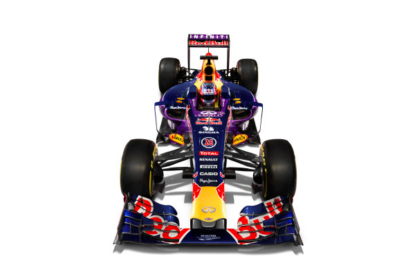 Infiniti Red Bull Racing RB11 Studio Images. Milton Keynes, UK. Sunday 1 March 2015. The Red Bull Racing RB11. Photo: Red Bull Racing (Copyright Free FOR EDITORIAL USE ONLY) ref: Digital Image RB11_LIVERY_05