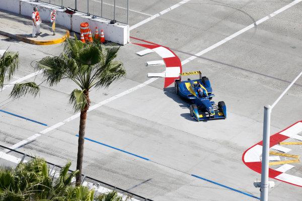2014/2015 FIA Formula E Championship. Long Beach ePrix, Long Beach, California, United States of America. Friday 3 April 2015 Sebastien Buemi (SWI)/E.dams Renault - Spark-Renault SRT_01E  Photo: Jed Leicester/LAT/Formula E ref: Digital Image _JL20231