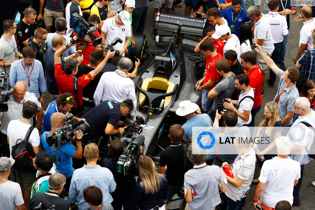 Autodromo Nazionale di Monza, Italy. Thursday 31 August 2017 The new 2018 F2 car in the paddock. Photo: Steven Tee/FIA Formula 2 ref: Digital Image _R3I2066