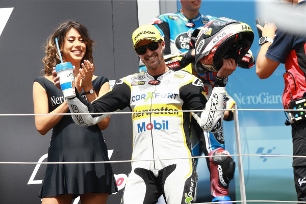 2017 Moto2 Championship - Round 11 Spielberg, Austria Sunday 13 August 2017 Podium: Thomas Luthi, CarXpert Interwetten World Copyright: Gold and Goose / LAT Images ref: Digital Image 687146
