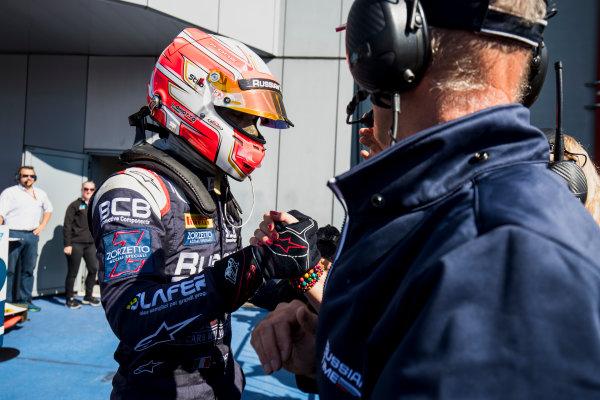 2017 FIA Formula 2 Round 9. Autodromo Nazionale di Monza, Monza, Italy. Sunday 3 September 2017. Luca Ghiotto (ITA, RUSSIAN TIME).  Photo: Zak Mauger/FIA Formula 2. ref: Digital Image _T9I9307