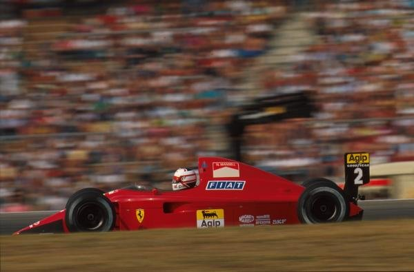 Nigel Mansell(GBR), Ferrari 641, DNF German GP, Hockenheim, Germany, 29 July 1990
