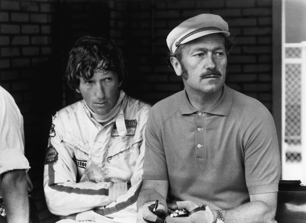 Zandvoort, Holland.19-21 June 1970.Jochen Rindt (Lotus 72C-Ford) 1st position, with Colin Chapman, portrait.World Copyright: LAT Photographic.Ref:  1340E - 19A.