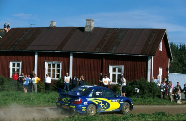 Petter Solberg (NOR) and Phil Mills (GBR) Subaru Impreza WRC.