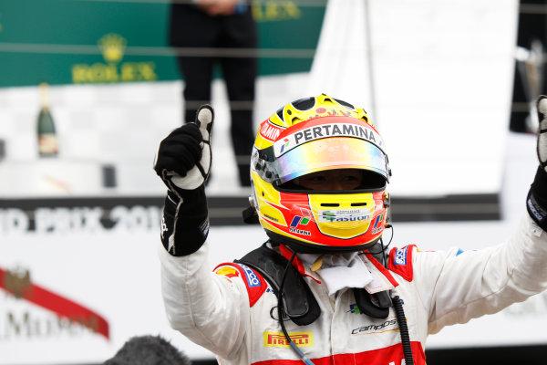 2015 GP2 Series Round 5.  Silverstone, Northamptonshire, England. Sunday 5 July 2015. Rio Haryanto (INA, Campos Racing)  Photo:  Sam Bloxham/GP2 Media Service ref: Digital Image _G7C1967