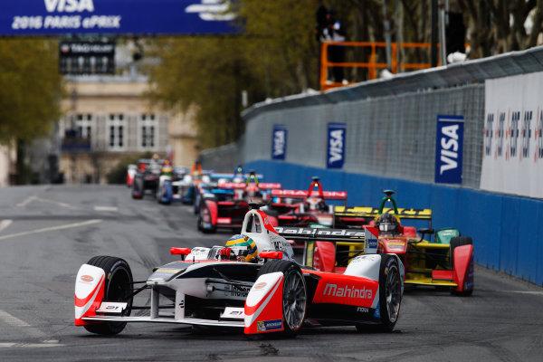 2015/2016 FIA Formula E Championship. Paris ePrix, Paris, France. Saturday 23 April 2016. Bruno Senna (BRA), Mahindra Racing M2ELECTRO. Photo: Glenn Dunbar/LAT/Formula E ref: Digital Image _W2Q1899
